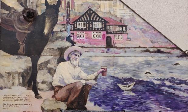 John Muir Mural in Prestonpans