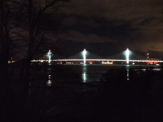 Queesferry Crossing At Night