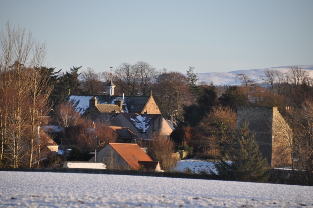 Trevelyan Hall from the woodland path to Ormiston