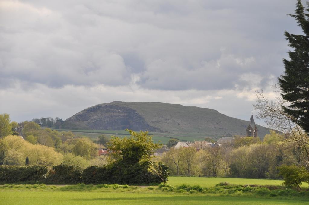 Traprain Law seen from Preston Mill